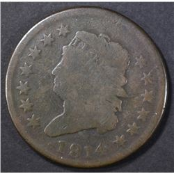 1814 CLASSIC HEAD LARGE CENT  VG