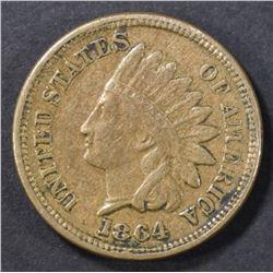 1864 CN INDIAN HEAD CENT   XF/AU