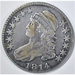 1814 CAPPED BUST HALF DOLLAR   VF
