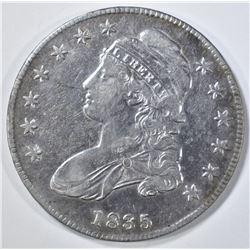 1835 CAPPED BUST HALF DOLLAR  XF/AU