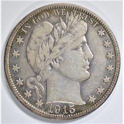 1915-S BARBER HALF DOLLAR   XF