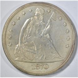 1870 SEATED DOLLAR   GEM PR