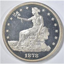 1878 TRADE DOLLAR  CH/GEM PR  CAMEO