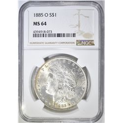 1885-O MORGAN DOLLAR  NGC MS-64