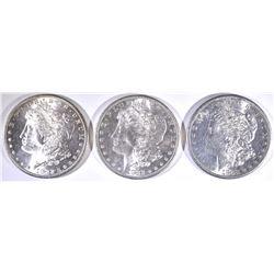 (3) 1882-S MORGAN DOLLARS FLASHY!