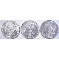 1883-O, 89 & 96 CH BU MORGAN DOLLARS