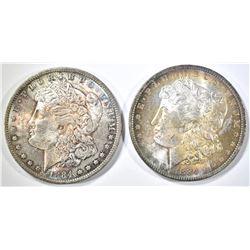 2-1884-O MORGAN DOLLARS CH BU WITH COLOR!