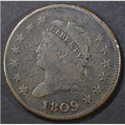 1809 LARGE CENT   FINE