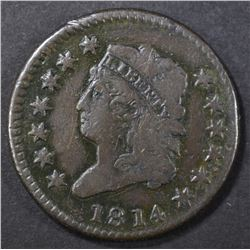1814 LARGE CENT  VF