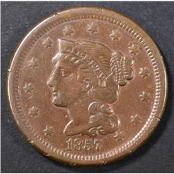 1857 SMALL DATE LARGE CENT   XF
