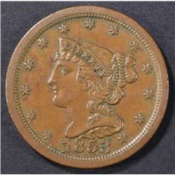 1853 HALF CENT AU
