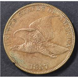 1857 FLYING EAGLE CENT BU