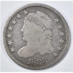 1833 BUST HALF DIME VG
