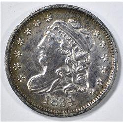1834 BUST HALF DIME AU/BU
