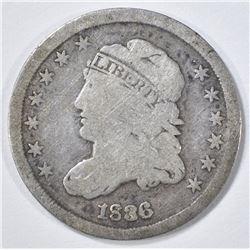 1836 BUST HALF DIME VG