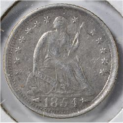 1854-O SEATED LIBERTY HALF DIME XF