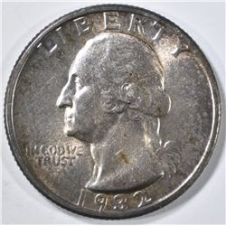 1932 WASHINGTON QUARTER CH BU COLOR
