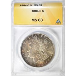1884-O  MORGAN DOLLAR, ANACS MS-63