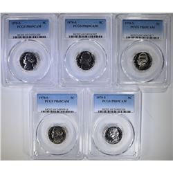 5 - 1970 S JEFFERSON NICKELS PCGS