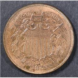 1869 2 CENT CH BU  RB