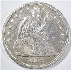 1846 SEATED LIBERTY DOLLAR  AU/BU