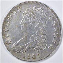 1807 BUST HALF DOLLAR  50/20  XF/AU