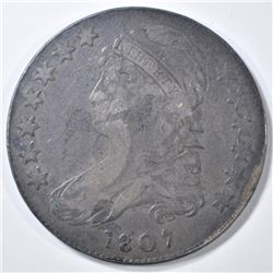 1807 BEARDED GODDESS BUST HALF DOLLAR  FINE