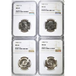 NGC GRADED SUSAN B. ANTHONY DOLLAR LOT: