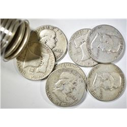 20-CIRC FRANKLIN HALF DOLLARS