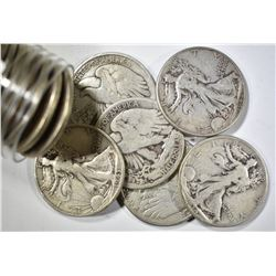 20-CIRC WALKING LIBERTY HALVES
