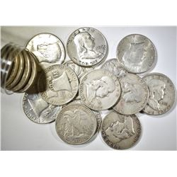 LOT OF MIXED 90% SILVER HALF DOLLARS