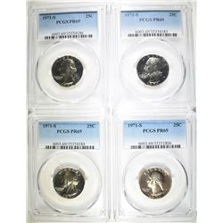 4-1971-S WASHINGTON QUARTERS, PCGS PR-69