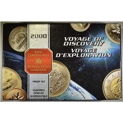 2000 CANADA VOYAGE OF DISCOVERY .925  PROOF SET