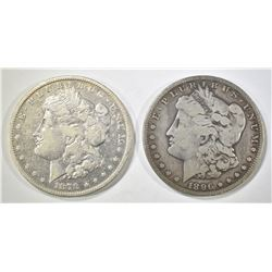 1878-S VF & 1896-S FINE MORGAN DOLLARS