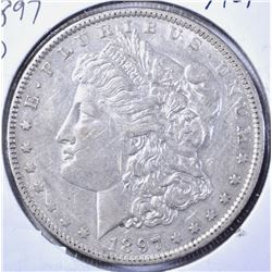 1897-O MORGAN DOLLAR, AU