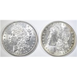1885 & 1898-O MORGAN DOLLARS BU