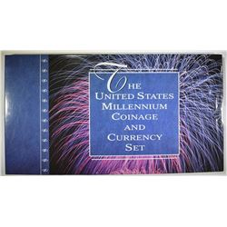 2000 U.S. MINT MILLENIUM COIN & CURRENCY SET