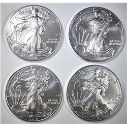 4-GEM BU 2019 AMERICAN SILVER EAGLES