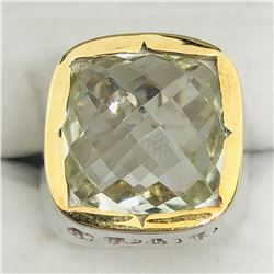 GREEN AMETHYST MEN'S RING SIZE 10