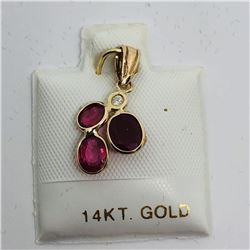 14K RUBY DIAMOND PENDANT