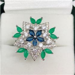 SILVER CZ FASHION RING SIZE 6