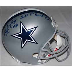 "Morris Claiborne Signed Cowboys Full-Size Helmet Inscribed ""2012 1st Round Pick"" (Radke COA)"