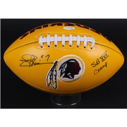 "Joe Theismann Signed Redskins Logo Football Inscribed ""SB XVII Champ"" (JSA)"