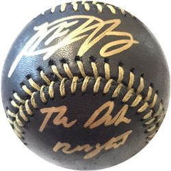 "Matt Harvey Signed Black Leather Baseball Inscribed ""The Dark Knight"" (Steiner COA)"