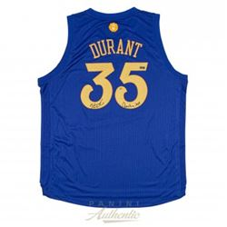 "Kevin Durant Signed LE Warriors Christmas Edition Authentic Swingman Jersey Inscribed ""Christmas 201"