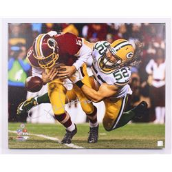 Clay Matthews Signed Packers 24 x30  Photo on Canvas (Matthews Hologram)