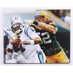 Clay Matthews Signed Packers 16 x20  Photo on Canvas (Matthews Hologram)