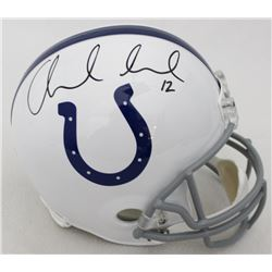 Andrew Luck Signed Colts Full-Size Helmet (Panini COA)