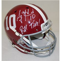 "AJ McCarron Signed Alabama Crimson Tide Full-Size Helmet Inscribed ""Roll Tide!"" (Radtke COA)"