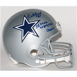 """Nate Newton Signed Cowboys Full-Size Helmet Inscribed """"SB XXVII, XXVIII, XXX Champions"""" (JSA COA)"""